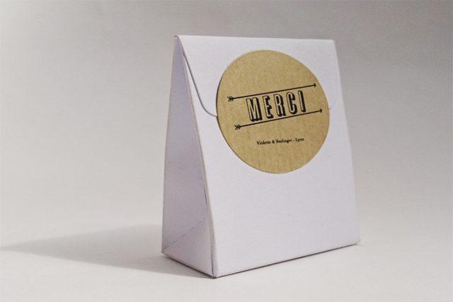 Violette & Berlingot Contenant mariage carton
